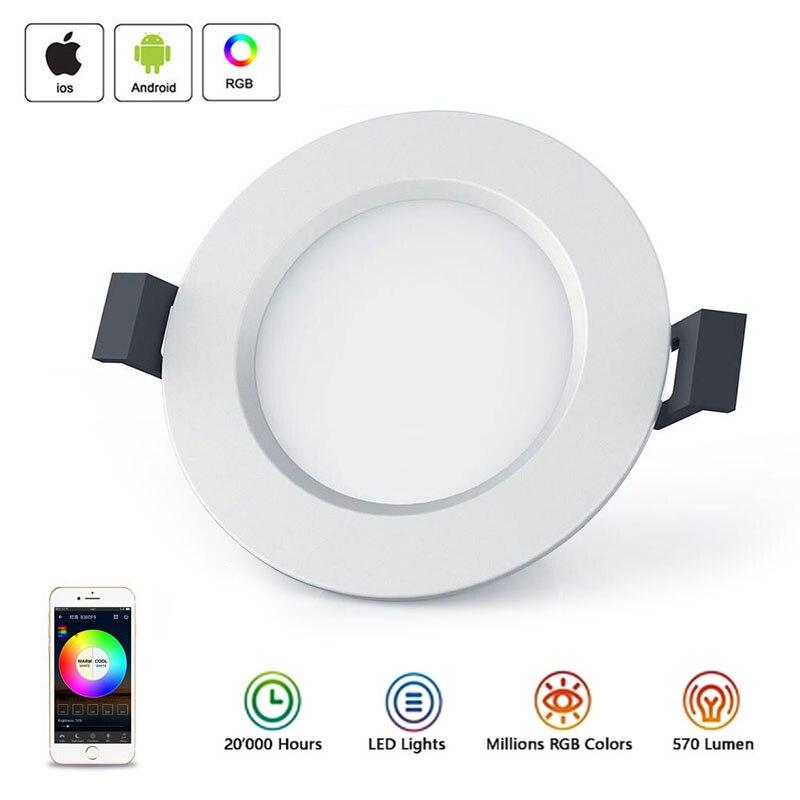Nuevo WiFi inteligente LED Downlight Led lámpara de techo spot luces abajo lámpara de panel redondo aplicación remota Control inteligente cambio Luz
