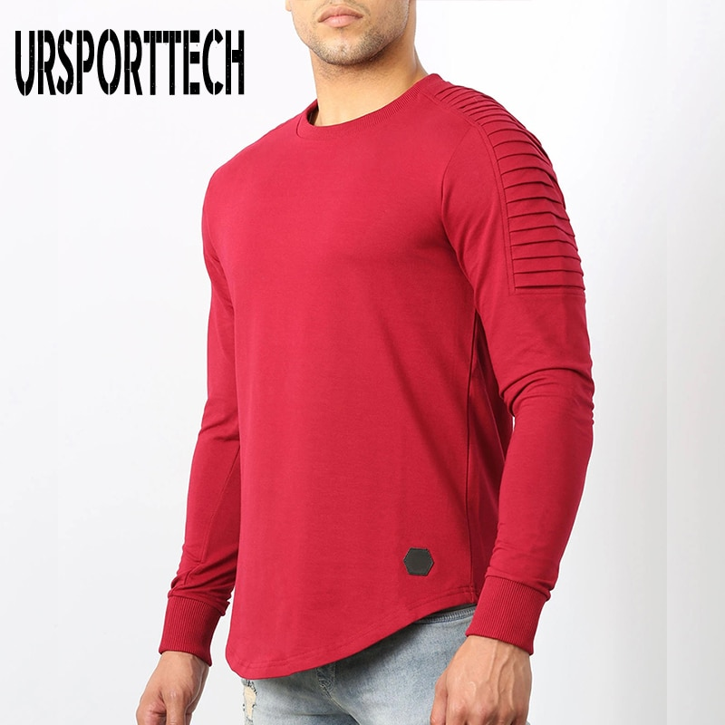 third impact imminent religion tops shirts for men unique t shirts fashionable ajax new round neck sweatshirts ireland sleeve URSPORTTECH T shirt Men Big Size Long Sleeve O-neck Solid Folds Full Sleeve T shirt Men Casual Shirts For Men Fitness Tops Tees