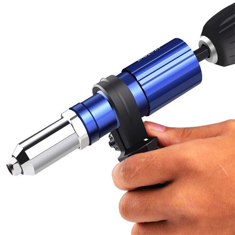 Z&Y Electric Rivet Gun 2.4mm-4.8mm rivet nut gun drill adapter Cordless riveting tool Insert Nut Pull Rivet Tool
