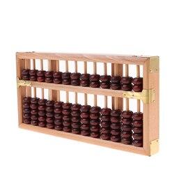 Chinês ábaco matemática cálculo ferramentas antigo calculadora de madeira 13 linhas contagem abaci