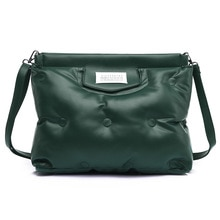 Designer ladies PU leather handbag large capacity ladies one shoulder messenger bag fashion space cu