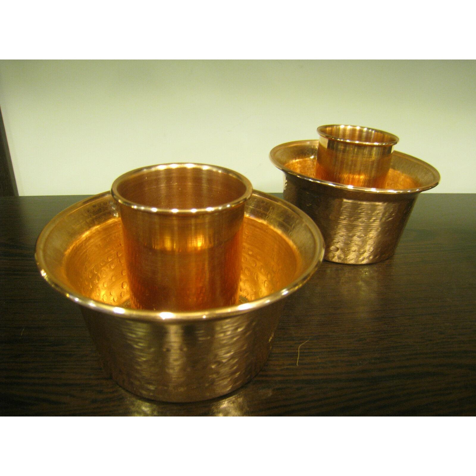 Totalmente hecho a mano cobre martillado turco Raki Ouzo enfriador de vino Ehlikeyf