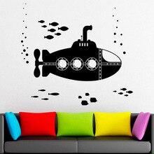 Autocollant mural sous-marin   Étiquette deau du monde des poissons, Art sous-marin, fenêtre en vinyle, Style océan, décor de salle de bains de chambre denfants Q516