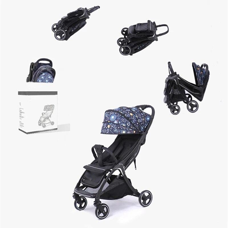 عربة طفل خفيفة الوزن مظلة قابلة للطي يمكن الجلوس والاستلقاء المحمولة الأطفال bb عربة السفر عربة امتصاص الصدمات