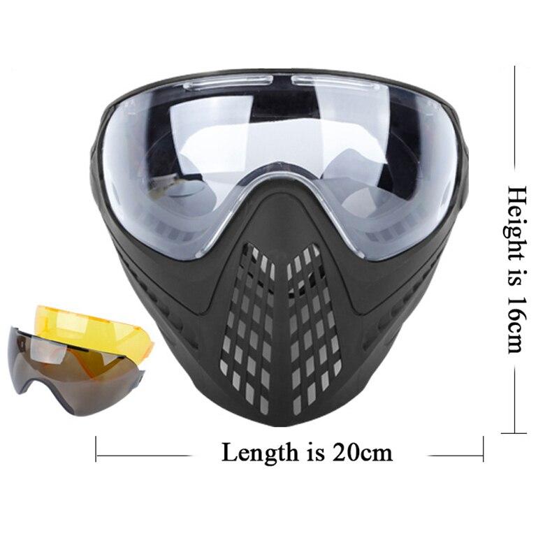 Wosport Airsoft nouveau paintball sports de plein air en nylon masques tactiques chasse personnes portant des masques militaires et des lunettes