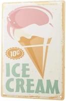 since 2004 tin plate retro ice cream