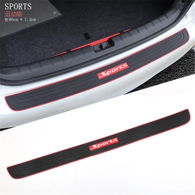 Estilo do carro de uso geral silicone porta traseira pára protetor sill para mitsubishi outlander pajero asx pajero esporte
