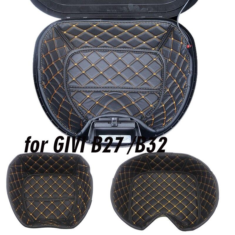 دراجة نارية بولي Leather حقيبة جلدية ل givi B32 E43 B27 مربع خلفي بطانة حقيبة جذع بطانة صندوق أمتعة الحاويات الداخلية الذيل