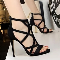2021 new womens sandals sexy nightclub womens shoes open toe hollow womens shoes wedding shoes 11cm stilettos 3 8 9