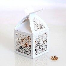 Hollow Die-Cut Butterfly Bukle Favor pudełka ślubne pudełka na cukierki pudełka na upominki weselne Hollow rose pudełko czekoladek