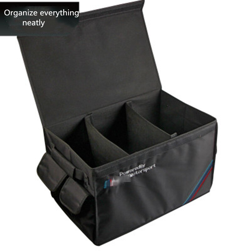 Organizador de maletero de coche plegable, caja de almacenamiento de carga, bolsa de bolsillo, accesorios interiores para remolque de coche, maletero de SUV de camiones de coche