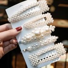 5 pièces de mode doux perles épingles à cheveux filles chapeaux élégant pinces à cheveux bandeau Ins ornement Barrettes accessoires de cheveux pour les femmes