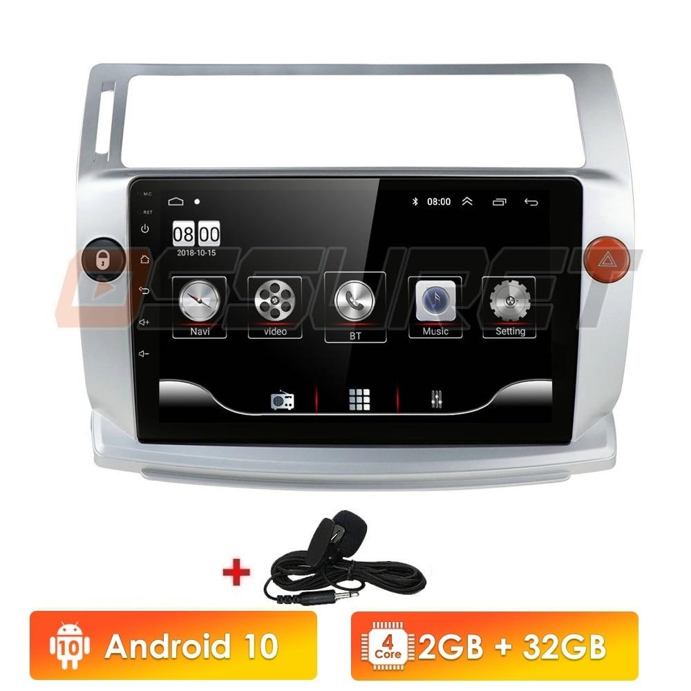 2G + 32G Android 10 Auto Radio für Citroen C4 C-Triomphe C-Quatre 2004-2009 auto dvd player auto zubehör 4G multimedia