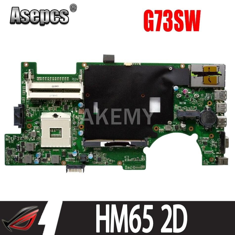 اللوحة الرئيسية Akemy G73SW للوحة الأم ASUS ROG G73SW G73S للكمبيوتر المحمول ضمان 90 يومًا HM65 2D