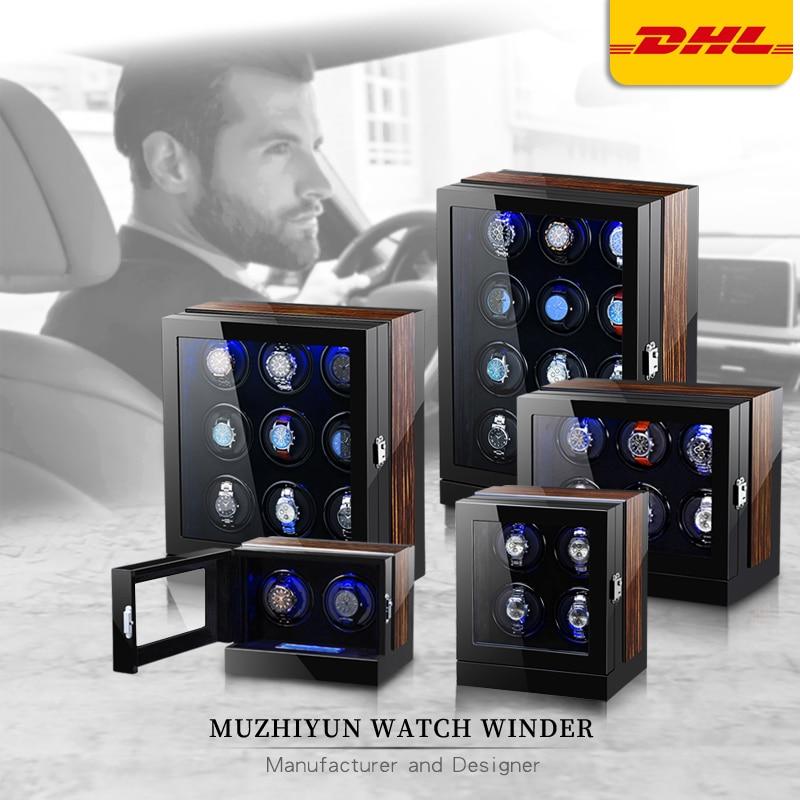 Automatic Luxury Watch Winder Box Accessories Display Mechanical Rotating Uhrenbeweger Velvet or Lea