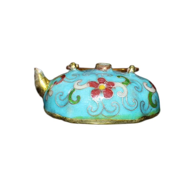 LAOJUNLU Imitation Antique Cloisonne Brass Plaque Blossom And Riches Stationery Supplies