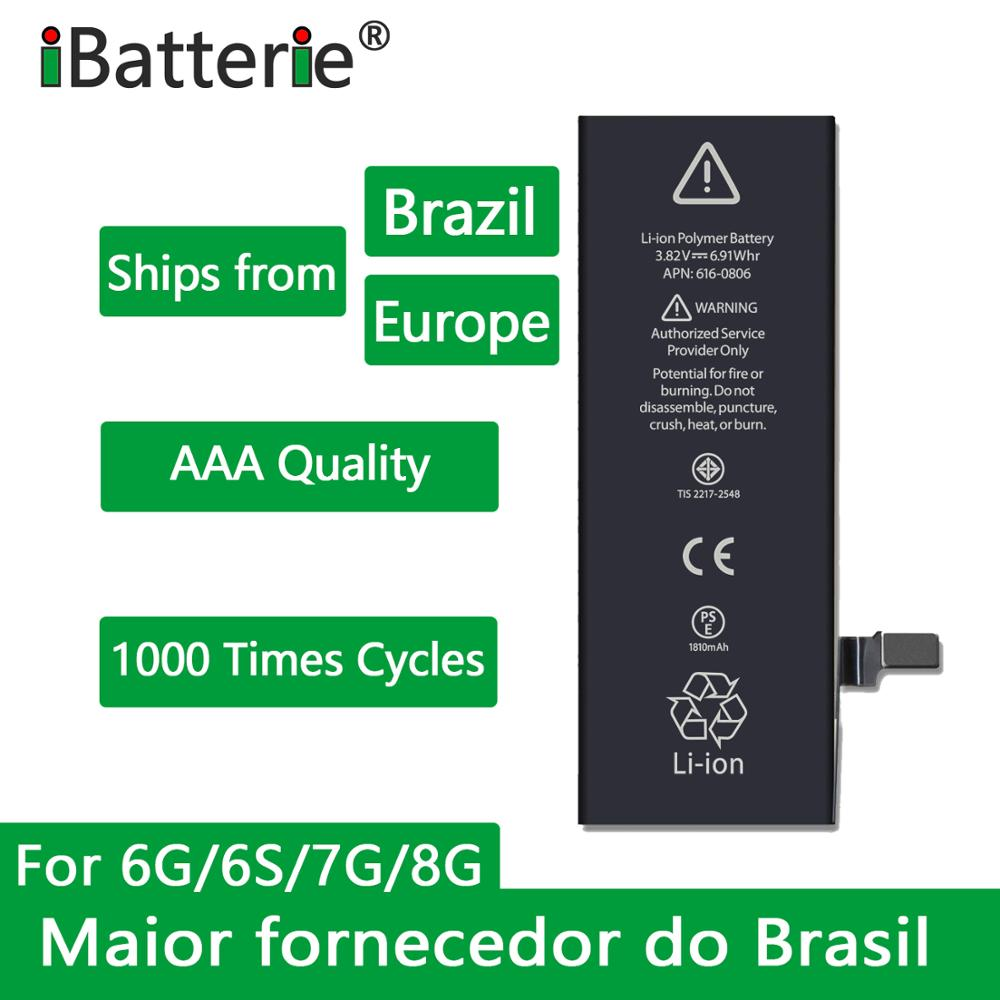 10pcs/lot iBatterie AAA Quality Battery For Apple iPhone 6S 6 7 8 Plus 5S 5 SE 6Plus 7Plus Replacement Bateria For iPhone 6S 7G flysky receiver fs gr3e fs a3 fs ia6 fs r6b fs x6b fs a8s fs r9b fs ia10b fs ia10