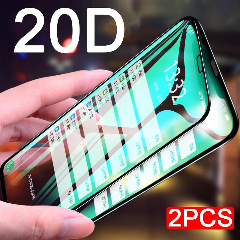2pcs 20D מזג זכוכית מסך מגן על לשיאו mi mi 8 לייט mi 8 Se פרו Explorer Pocofone F 1 Pocophone F1 מגן סרט