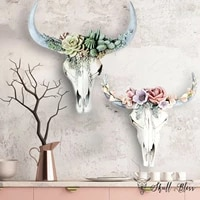 2021 new bull head wall decoration resin crafts simulation 3d animal cow skull artificial decoration