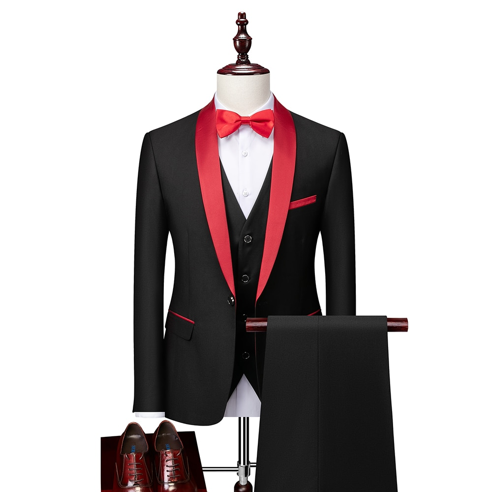 (Куртки + жилет + брюки) 2021 мужские весенние деловые блейзеры/мужской высококачественный хлопковый костюм из трех предметов/мужское платье д...