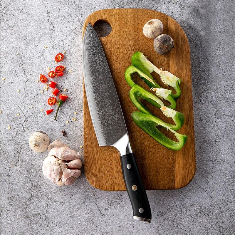 Cuchillos de cocina de Damasco G10, cuchillos profesionales, cuchillo de carnicero, rebanador,...