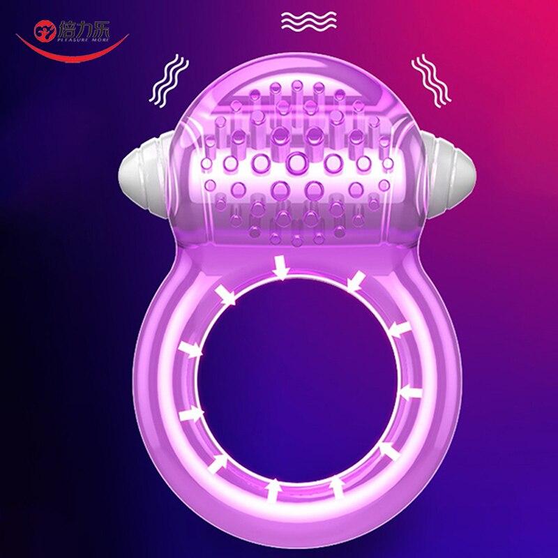 Петух кольца Пуля Вибратор Задержка эякуляции вибрирующее кольцо на пенис тренажер мужской мастурбации Блокировка спермы Секс игрушки для мужчин