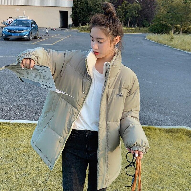 Женская Двухсторонняя куртка на хлопковом наполнителе, Повседневная Свободная теплая куртка-парка большого размера с бархатной подкладко...