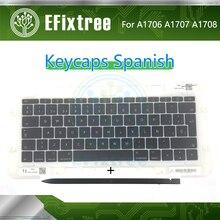 Remplacement de lordinateur portable espagnol SP A1706 A1708 A1707 touches de clavier Keycaps Keycap pour Macbook Pro Retina 13