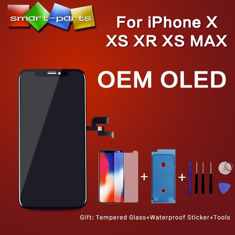 Alta calidad OEM OLED para iPhone X XS XR XS MAX LCD pantalla táctil reemplazo con 3D Touch digitalizador montaje