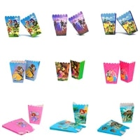 wholesale frozen anna elsa party paper popcorn boxes gift birthday party decorations kids favor gift bags baby shower supplies