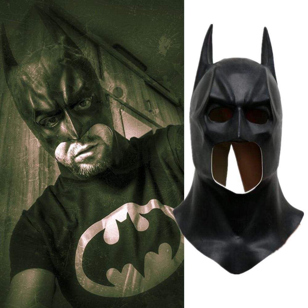 Film Batman Super Hero Maske Die Dark Knight Batman Latex Schwarz Cosplay Masken Helme Party Halloween Prop