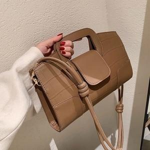 Stone Pattern Square Tote bag 2021 Trendy High-quality PU Leather Women's Designer Handbag Vintage Ladies Shoulder Messenger Bag