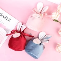 candy cookie bags bunny ears gift packing bags easter rabbit party supplies happy easter party