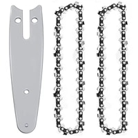 wear resistance 4 inch smooth cutting chain saw chain and chainsaw bars set for 4 inch mini cordless handheld electric chainsaw