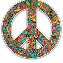 Creative Peace Sign Car Sticker Accessories Car Styling Decal Vinyl Car Window Cover Scratches Water