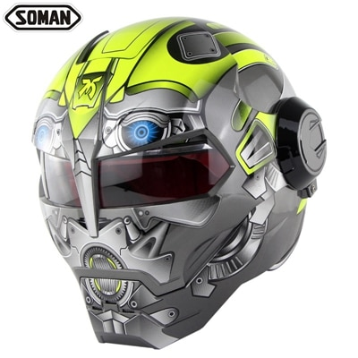 DOT Genehmigt Eisen Mann Moto rcycle Helm Für Soman SM515 Volle Gesicht moto rbike Retro casco capacete moto Kask Moto r Helme