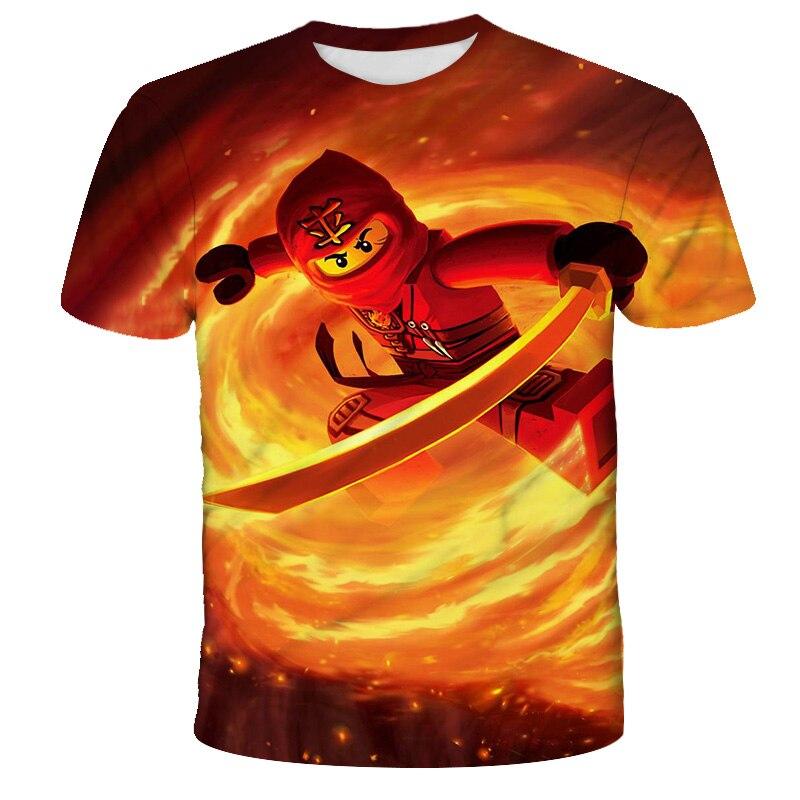 AliExpress - Ninja Boys T-shirts 2021Summer Ninjago T Shirts For Girls tshirt Ninjago Costume Boys Clothes Children Clothing Top Tees 4-14y
