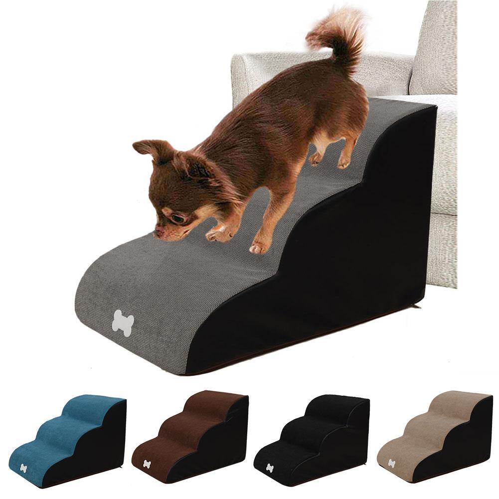 Dog Stair Pet 3 Step Ladder Cat Puppy House Cotton Ladder Small Dog Bed Non Slip Ramp Pet Supplies Climbing Sofa Tool