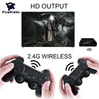 powkiddy g5 video game consoles box double wireless gamepads with remote controller console x support 50 emulators for psp