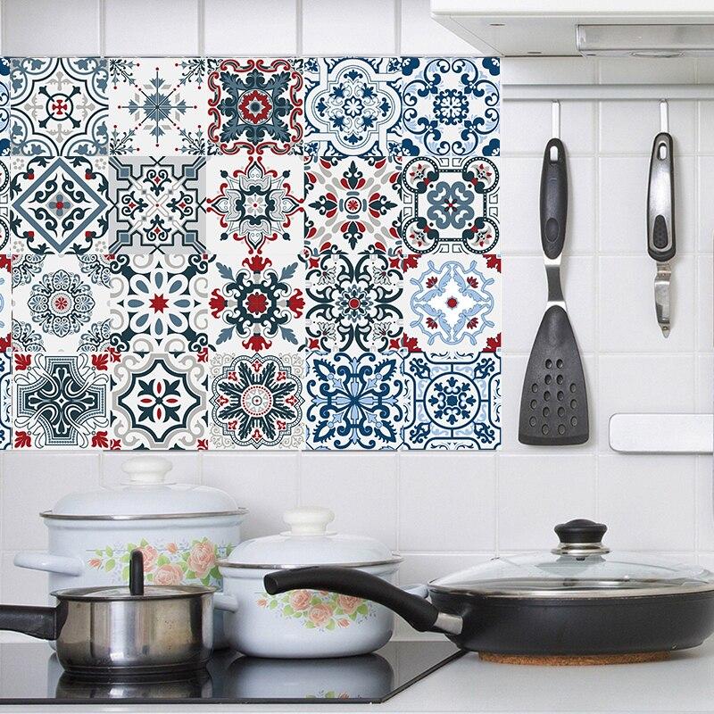 Наклейка для плитки s для кухни, корки и палочки, декор для ванной, водонепроницаемая настенная наклейка, мебельная наклейка, арабский, Испан...