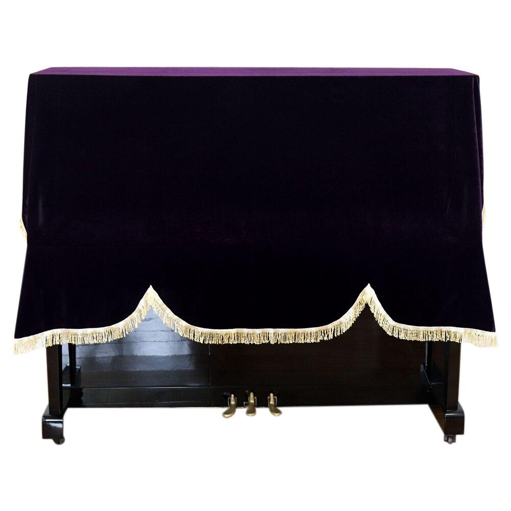 Capa à Prova de Poeira Risco em Casa Vertical de Proteção Dobrável Macio Lavável Ouro Veludo Piano Teclado Universal Anti