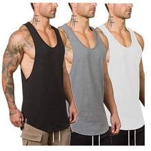 Sieben Joe baumwolle ärmellose shirts tank top männer Fitness mens singulett Bodybuilding workout gym weste fitness männer
