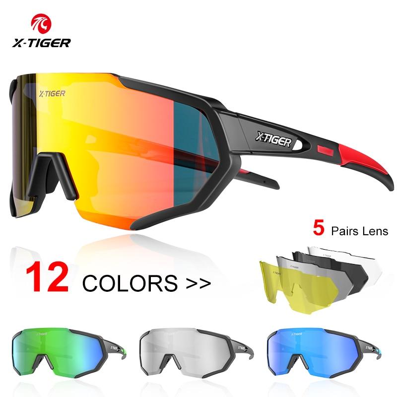 X-TIGER عدسات قطبية الدراجات نظارات الطريق دراجة الدراجات نظارات الدراجات النظارات الشمسية الجبلية دراجة جبلية الدراجات نظارات