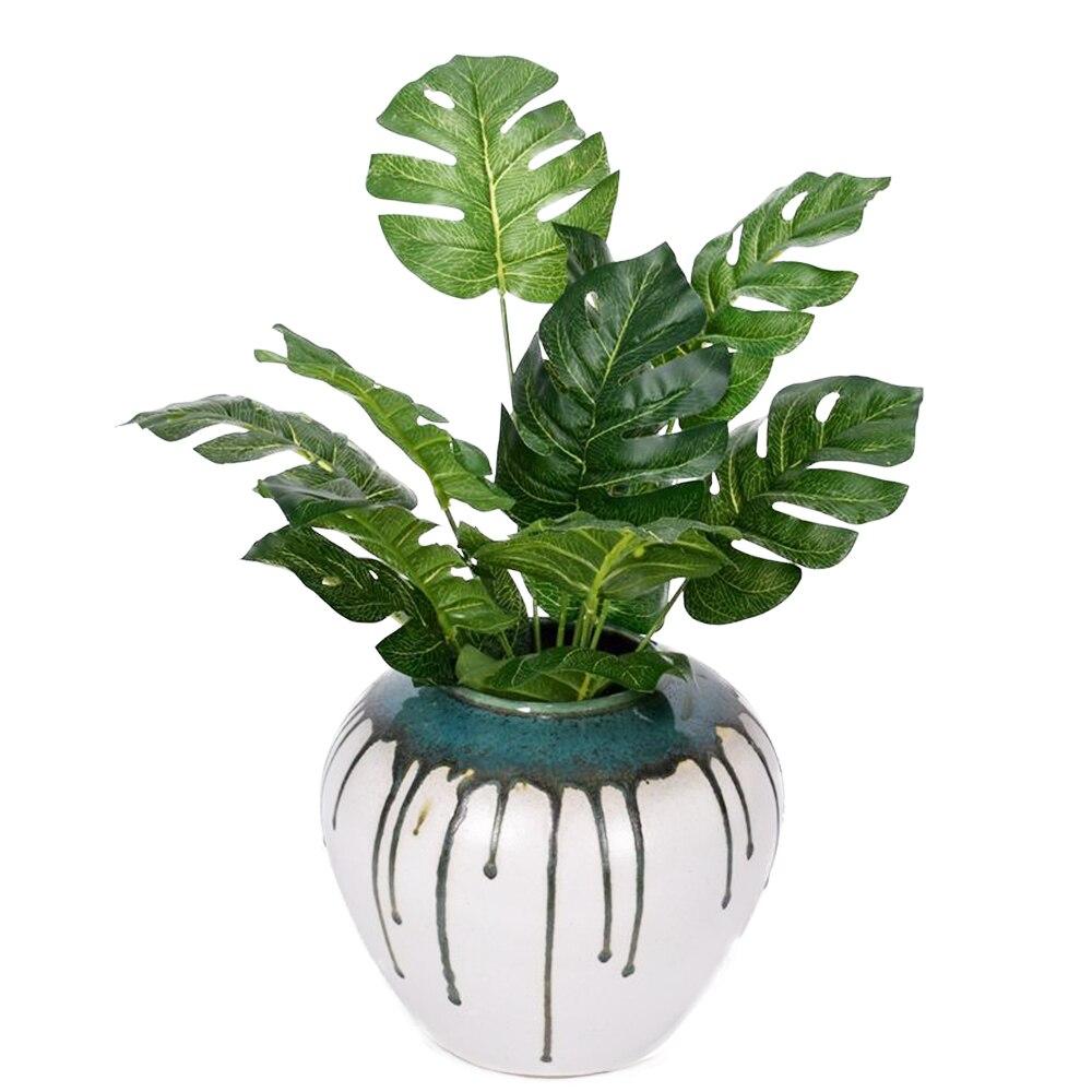 Искусственные растения, зеленые горшечные растения, персидские листья, украшение для дома и сада, искусственные растения, свадебное украше...