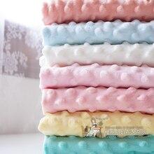 ZENGIA 150x 50cm Minky Fabric Velvet Fabric Ins Handmade DIY Winter Bed Sheet Remnant Blanket Materi