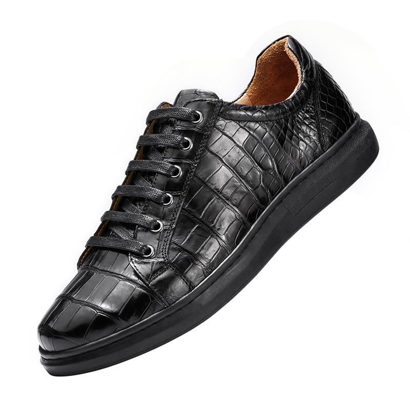 الخريف أحذية رياضية للرجال مصمم العلامة التجارية الفاخرة 2021 جديد جلد التمساح البريطانية الراقية الأعمال فستان أحذية خفيفة أنيقة