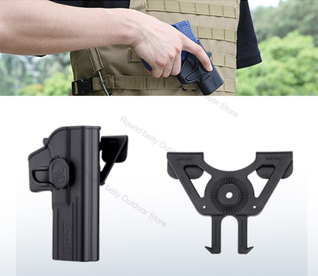 Holster Magazine Molle Attachment Plate Carrier Belt Body Armor Load Bearing Equipment Vest Tactical Bag Pouch Army Hunting army tactical carrier armor chest rig vest harness rifle pistol magazine pouch crx hunting equipment accessories 5 56