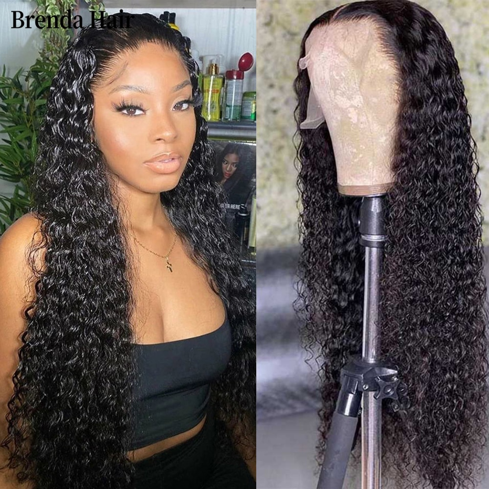 13X4 Lace Water Wave Wig Transparent Lace Frontal Wig Pre-Plucked Brazilian 4x4 Lace Closure Human Hair Wigs for Women