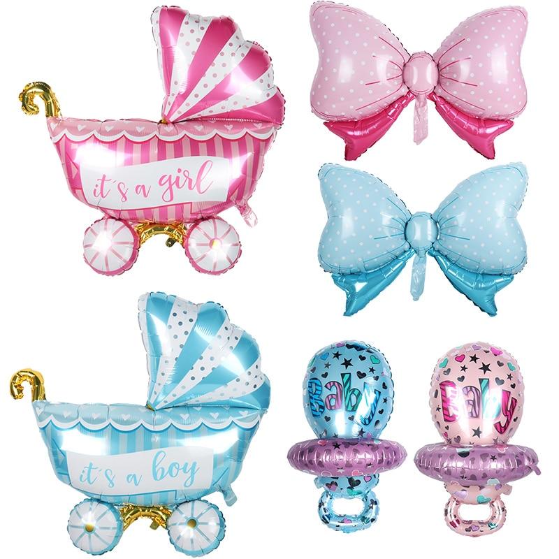 Воздушные шары Baby Shower для мальчиков и девочек, розовые/синие фольгированные воздушные шары It's a Boy Girl, праздничные подарки, воздушные шары на ...