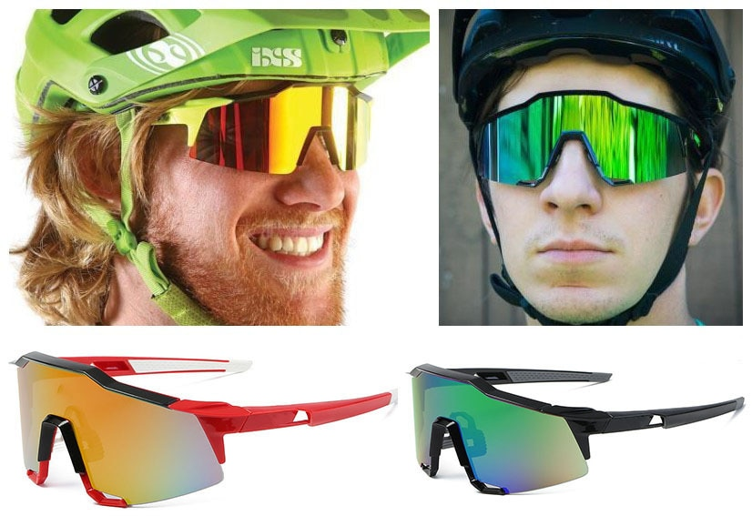 100 New Sunglasses Outdoor Riding Glasses Bicycle Glasses Sports Windproof Big Frame Glasses Glasses  Cycling Glasses  Dirt Bike